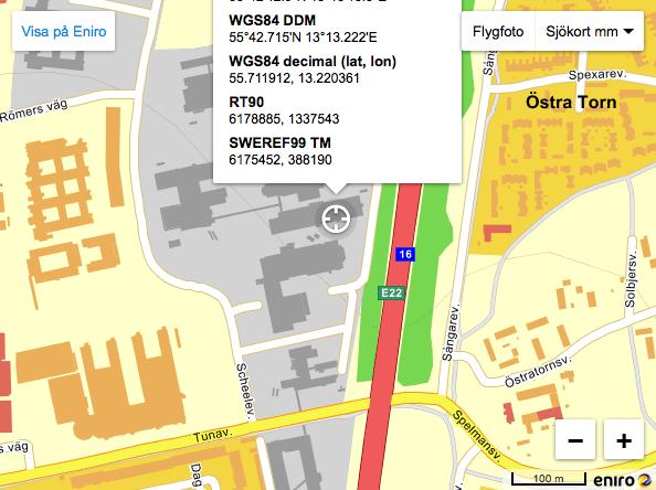 Map to Prototypverkstaden