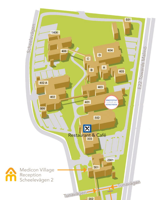 Map Medicon Village